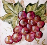 Grapes accent or deco tile